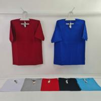 Kaos Polos Lengan Pendek Katun Combed YES 24S Size S-XL