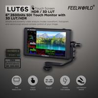 "FeelWorld LUT6S 6"" 2600 cd/m² 4K HDMI/3G-SDI Touchscreen Monitor"