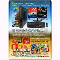 Komputer PC rakitan paket office ekonomis Intel Core Duo
