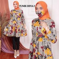 Tunik Wanita Dewasa DEYA Baju Atasan Tunik Muslim Bahan Katun Apple