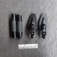 Spion Bar End Arrow + Handgrip Rizoma Black Vespa Nmax Aerox PCX