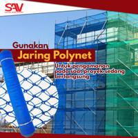 Safety net / polynet / jaring pengaman proyek bangunan