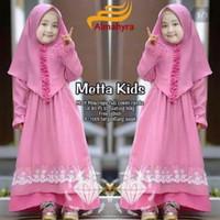 Metta Kids Baju Muslim Gamis Anak Perempuan Usia 4-5-6 Tahun