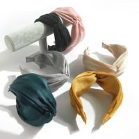 Bando polos korea wanita dewasa bandana kain ringan cantik fashion