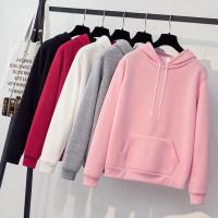 DaveFashion - Sweater Wanita Hodie Kantong BASIC KINGSSS 2 Babyterry