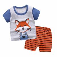 Baju Jumper Pendek Kaos Dengan Celana Piyama Anak Bayi 6-12bulan