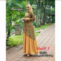 baju gamis batik jumbo dan standar pakaian batik muslimah