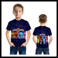 Kaos Baju Anak Karakter Power Ranger Mini Force 03 Fullprint