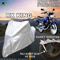Sarung Motor RX KING SILVER POLOS Body Cover Penutup Rx King PREMIUM