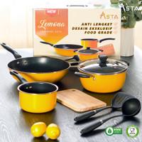 Panci Set Teflon Anti Lengket / Alat Masak Cookware Set 7 Pcs Lemona
