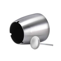 Firetric Asbak Rokok Anti Angin Cone Cylinder Stainless Silver