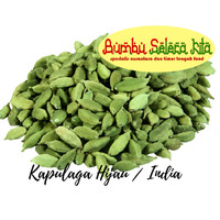 Kapulaga Hijau Arab India Premium/ Kapol India Arab/ Cardamom - 10 Gr