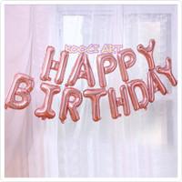 Balon set happy birthday rose gold balon huruf 1 set balon foil set