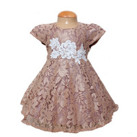 Dress Kids Deli COKSU/Terusan Baju Anak Ulang Tahun/Brukat Motif Bunga
