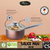 CS KochSysteme 16 cm Sauce Pan / Milk Pan Premium Anti Lengket