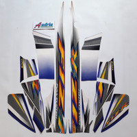 Stiker Striping Motor Yamaha F1ZR 2004 Putih-Biru