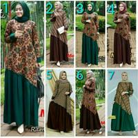 baju gamis batik gamis daun anggur pakaian baju batik muslimah