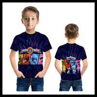 Kaos Baju Anak Karakter Power Ranger Mini Force 03 Fullprint - S