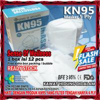 Masker KN95 5Ply Earloop Disposable Mask KN 95 5 Ply Bedah Medis KN-95 - KN95 SOW