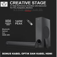 Speaker Creative Stage 2.1 Soundbar Premium Sound Bluetooth 160 Watt