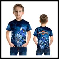 Kaos Baju Anak Karakter Power Ranger Mini Force 04 Fullprint