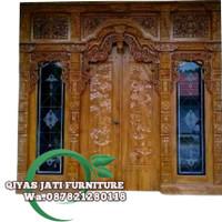 set pintu rumah bahan kayu jati TIPE GEBYOK SIZE 250x265