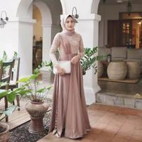 Stevia Dress Baju Gamis Maxy Brukat kondangan Pesta Muslim Murah