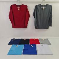 Kaos Polos Katun Dewasa Lengan Panjang YES Size S-XL