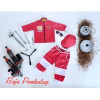 Baju Profesi Anak Kostum Pembalap Bahan Drill