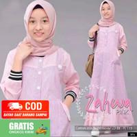 Baju gamis anak perempuan Muslim Remaja tanggung 12 Tahun M L XL murah
