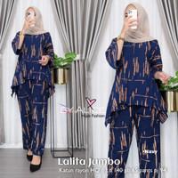 Baju fashion Setelan Wanita Muslim Atasan & Celana Laila Jumbo Set
