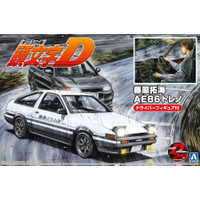 Mokit Aoshima 1/24 AE 86 Trueno Project D with driver Initial D
