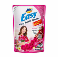 Kao attack easy deterjen cair sparkling blooming 1200ml