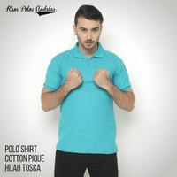 Kaos Polos Polo Cotton Pique Hijau Tosca