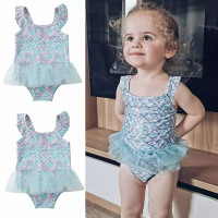 Baju renang bayi 3bln-3tahun Biru Tutu swimsuit import