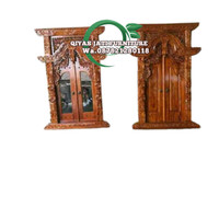 set pintu jendela rumah kayu jati TIPE GEBYOK FINISHING harga murah