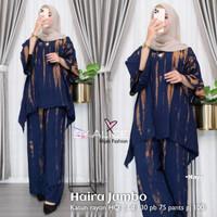 Baju fashion Setelan Wanita Muslim Atasan & Celana Haira Jumbo Set