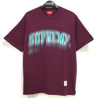 Supreme Blurred Arc SS T-shirt Top Plum 100% Original
