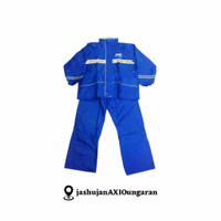 Jas Hujan/Raincoat AXIO Europe type 882 Silver series - Biru - Biru, M