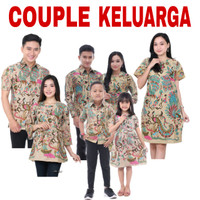 Baju Batik Couple Keluarga Set / Batik Anak / Seragam Batik Keluarga