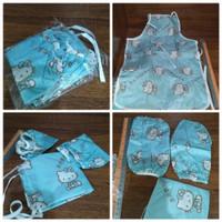 Hello Kitty apron set - 1 set celemek anak Hello Kitty