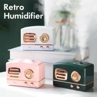 RETRO MINI Pelembab Ruangan Aroma Terapi / Lampu Tidur RGB Humidifier - Putih