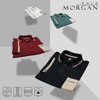 Baju Polo Pria Original Casual Distro Polos Berkerah Morgan Premium