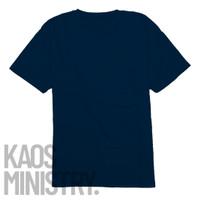 Kaos polos Navy lengan pendek cotton combed 20s 100% o neck Unisex