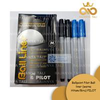 Ballpoint Pilot Ball liner (warna Hitam/Biru) PILOT