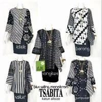 Blus Seling Monokrom Baju Batik / Katun / Kasual / Wanita / Murah