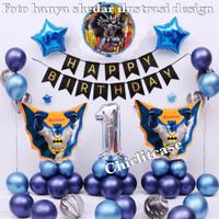 Balon set paket dekorasi batman ulang tahun birthday anak superhero