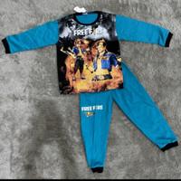 Baju Tidur Anak Laki-Laki Umur 2th-10th Free Fire Setelan