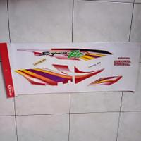 lis body striping stiker Supra Fit Old Full Merah 2003 -2004 ori AHM