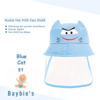 Baybie's Topi Bucket Face Shield Baby / Topi Motif Blue Cat